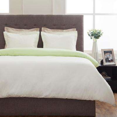 Grant Cream and Lime Full Duvet Set