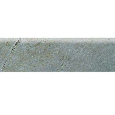 Franciscan Slate Coastal Azul 3 in. x 12 in. Glazed Porcelain Bullnose Floor and Wall Tile