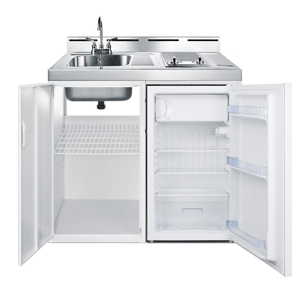 Summit Appliance 39 in. Compact Kitchen in White