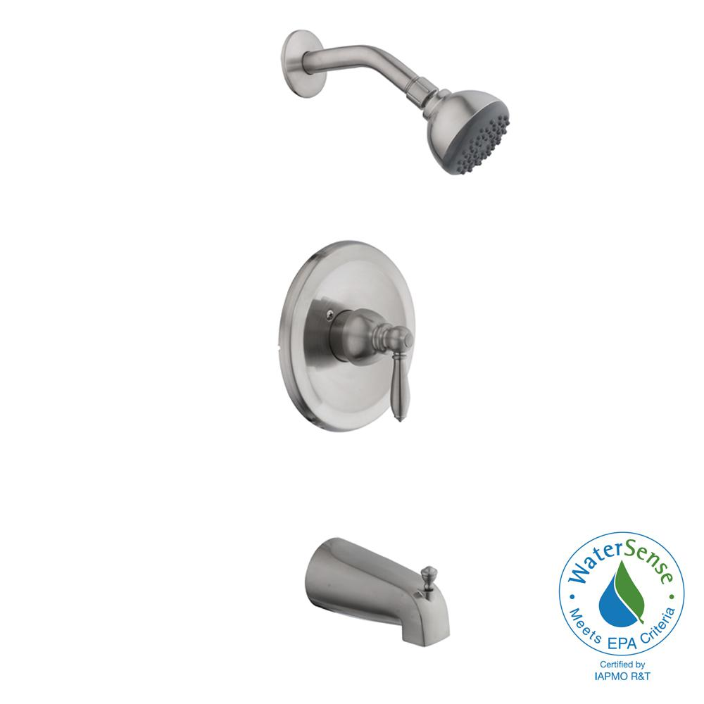 shower heads that connect to bathtub faucet. 2500 Series Single Handle 1 Spray Tub and Shower Faucet in Brushed Nickel American Standard  Bathroom Faucets Bath The Home Depot