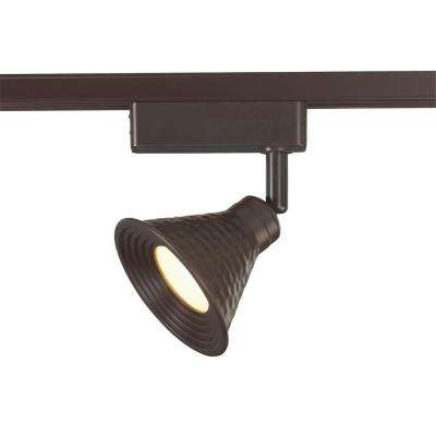 LED Bronze Linear Track Lighting Head with Hammered Shade