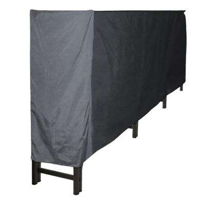 12 ft. Polyester Full-Length Firewood Rack Cover