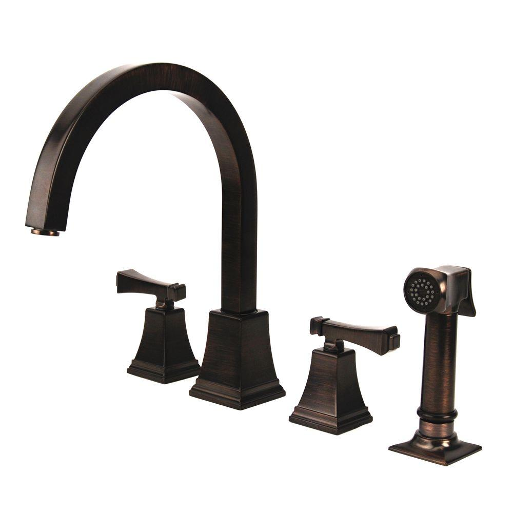 Fontaine Montefiore 2-Handle Italian Kitchen Faucet in Bronze-DISCONTINUED