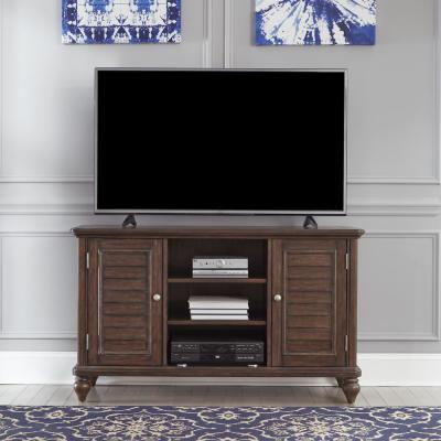 Southport Dark Aged Oak Brown Entertainment Center