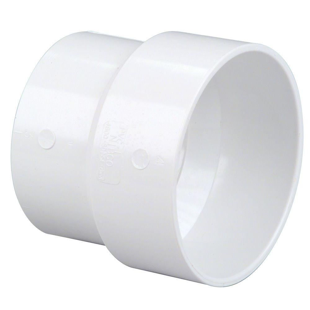3 in. x 4 in. PVC DWV Hub x Sewer and