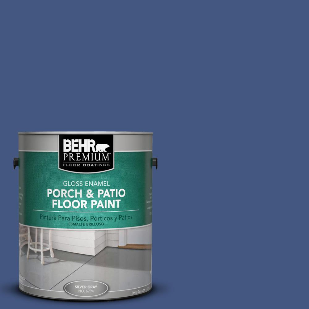 1 gal. #M540-7 Optimum Blue Gloss Porch and Patio Floor Paint