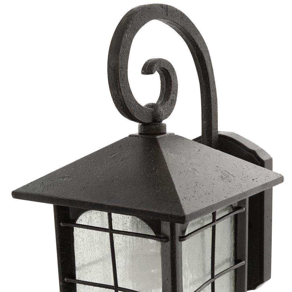 Home Decorators Collection Brimfield 180°1Light Aged Iron Motion-Sensing Lantern