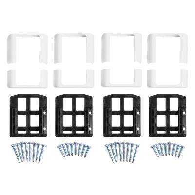 Walton White Straight Railing Bracket Kit (4-Piece)