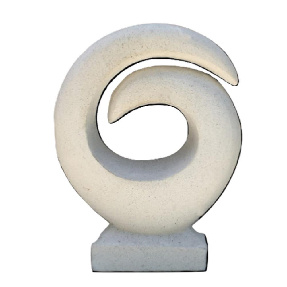 Circle Of Life White Stone And Cement Garden Statue Col185 The