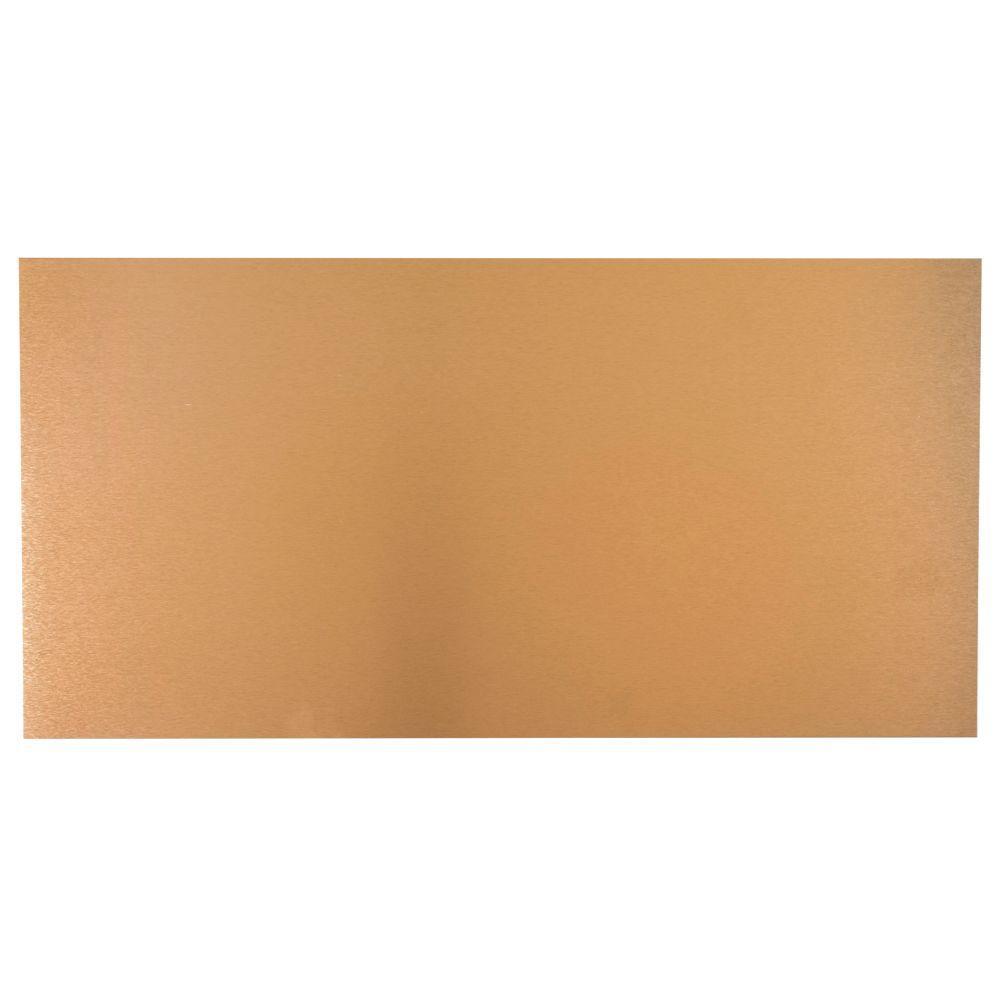 12 in. x 24 in. Copper Aluminum Sheet