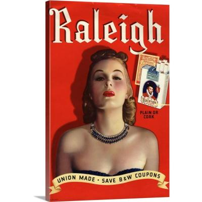 """""""Raleigh Cigarettes"""" by Great BIG Canvas Canvas Wall Art"""