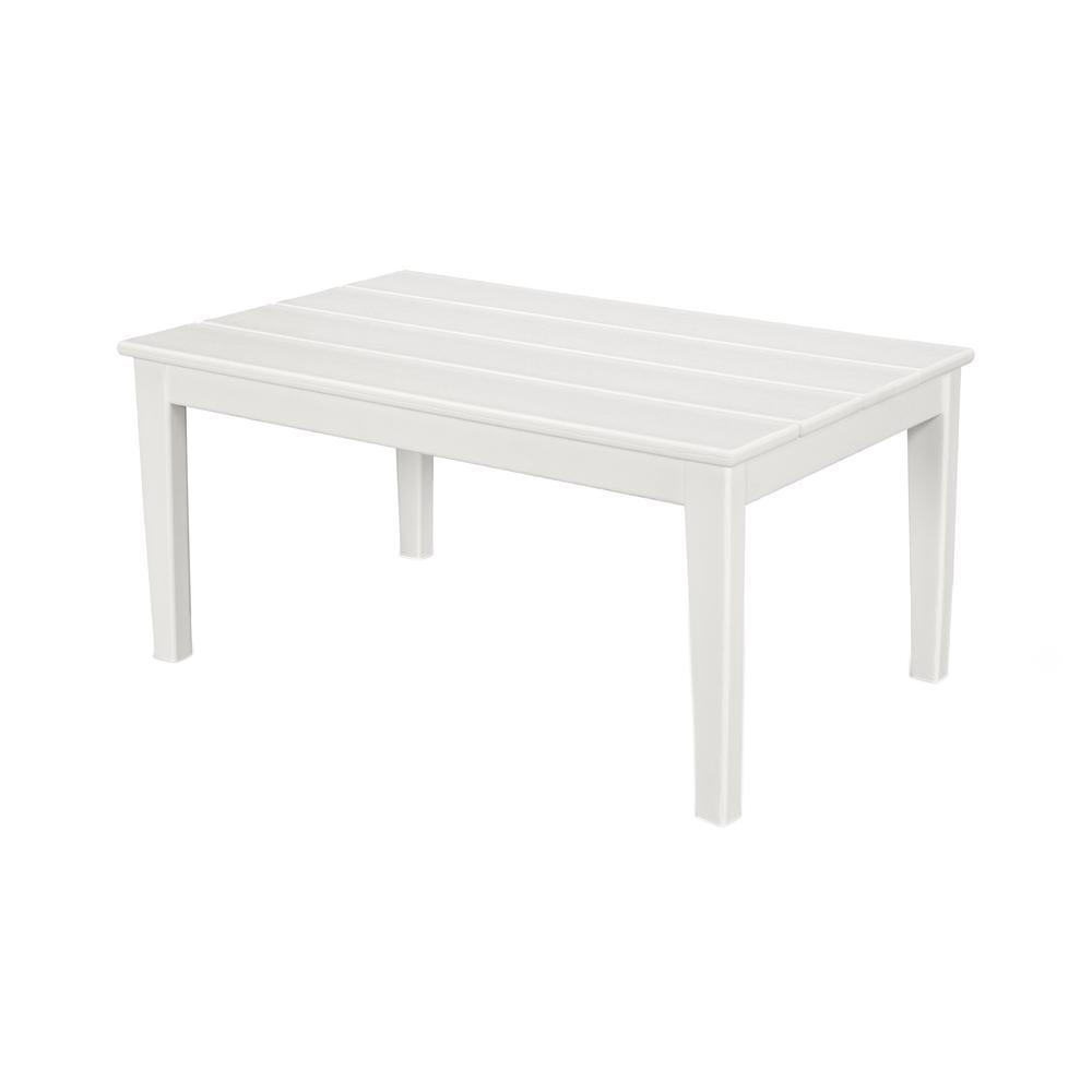 Polywood Newport 22 In X 36 Plastic Outdoor Coffee Table