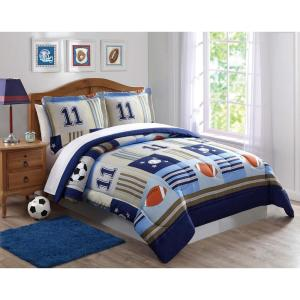 Click here to buy  Denim and Khaki SportsFull / Queen Comforter Set.
