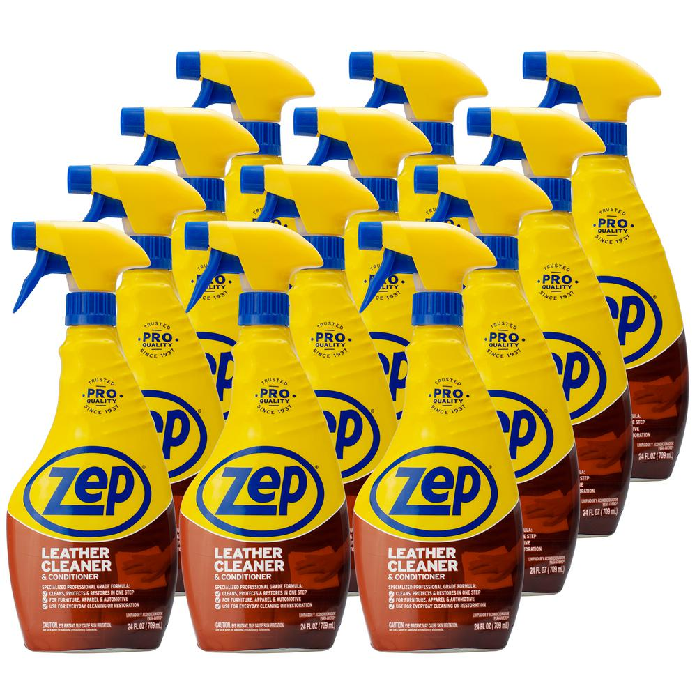 ZEP 24 oz. Leather Cleaner and Conditioner (Case of 12)