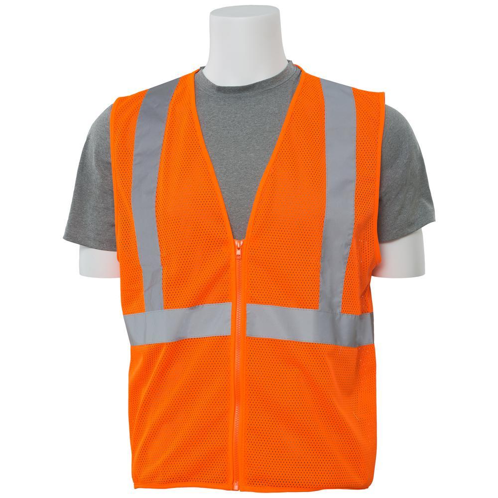 S363 2X Hi Viz Orange Economy Poly Mesh Safety Vest