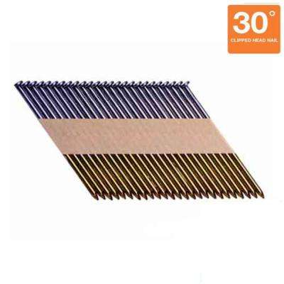 3 in. Paper Collated Round-Head Framing Nails (1,000 per Box)