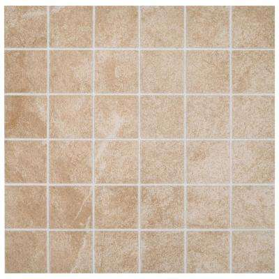 Portland Stone Beige 12 in. x 12 in. x 6.35 mm Ceramic Mosaic Tile