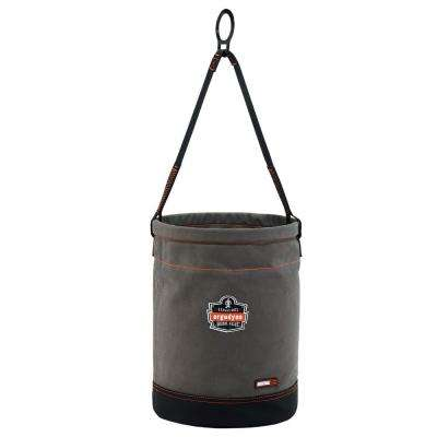 Arsenal 12.5 in. Tool Bucket with D-Rings, Gray Canvas