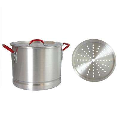 Pamona 20 Qt.Aluminum Tamale Pot with Steamer Insert and Lid