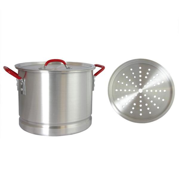 Oster Cocina Pamona 20 Qt.Aluminum Tamale Pot with Steamer Insert and Lid