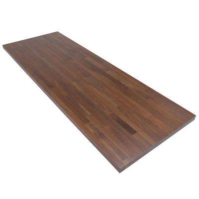 6 ft. L x 2 ft. 1 in. D x 1.5 in. T Butcher Block Countertop in Finished Walnut