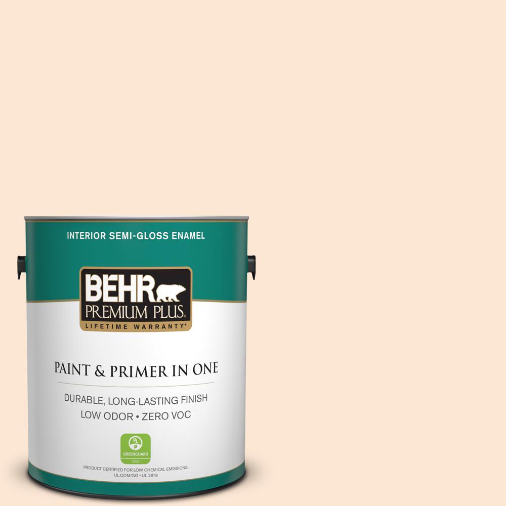 1-gal. #P210-1 Sour Candy Semi-Gloss Enamel Interior Paint