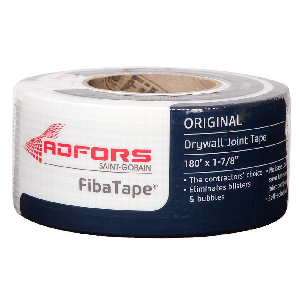 Saint-Gobain ADFORS FibaTape Standard White 1-7/8 in. x 180 ft. Self-Adhesive Mesh Drywall Joint Tape