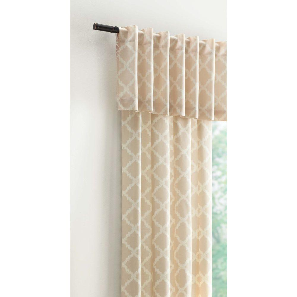 Home Decorators Collection 15 In L Polyester And Cotton Valance In Ivory Arabica 280 409 The