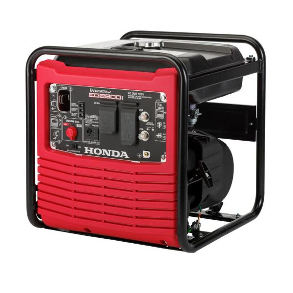 2800-Watt Recoil Start Portable Gasoline Powered Inverter Generator with Eco-Throttle and Oil Alert