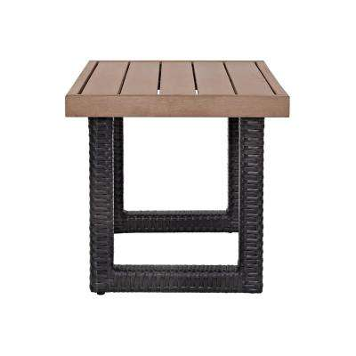 Beau Fort Wicker Outdoor Side Table