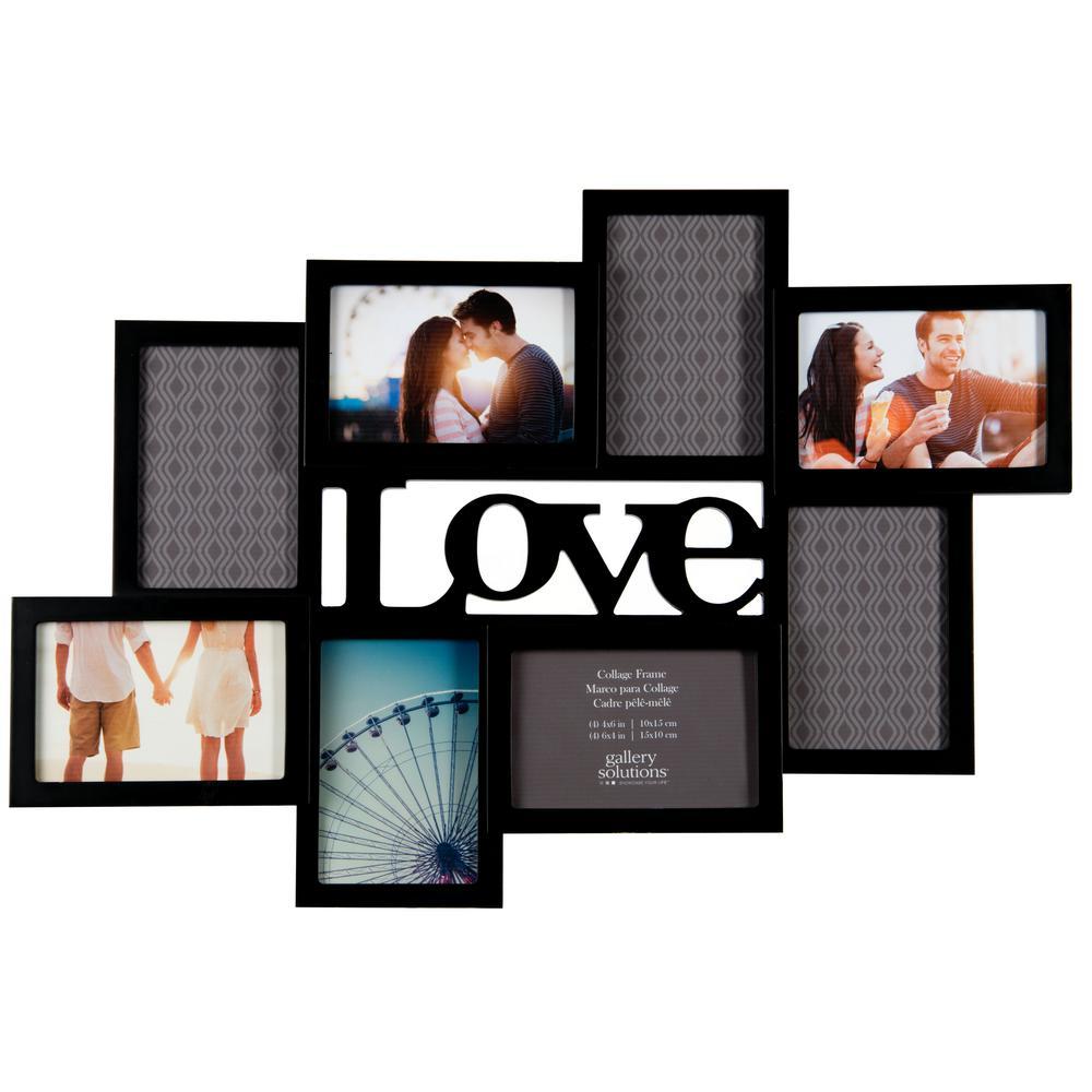 Pinnacle 8-Opening 4 in. x 6 in. Love Picture Frame-10FW1581E - The ...
