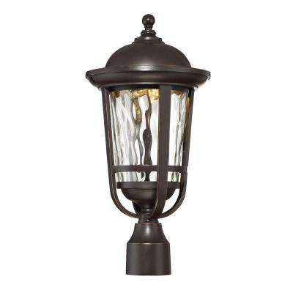 Westbrooke Aged Bronze Patina Outdoor LED Post Lantern