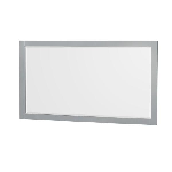 Sheffield 58 in. W x 33 in. H Framed Rectangular Bathroom Vanity Mirror in Gray