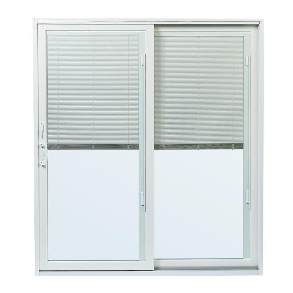 Andersen 70 1 2 In X79 200 Series White Right Hand Perma Shield Gliding Patio Door W Built Blinds And Hardware Psbbgrwh The Home Depot