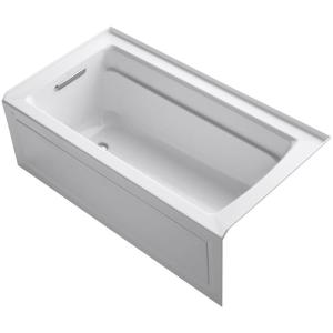 Archer 60 in. x 32 in. ADA Acrylic Alcove Bathtub with Integral Apron, Integral Flange and Left-Hand Drain in White