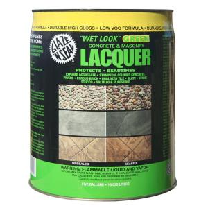 Glaze 'N Seal 5 gal. Clear Wet Look Green Concrete and ...