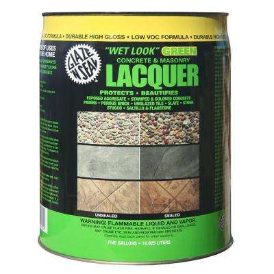 5 gal. Clear Wet Look Green Concrete and Masonry Lacquer Sealer