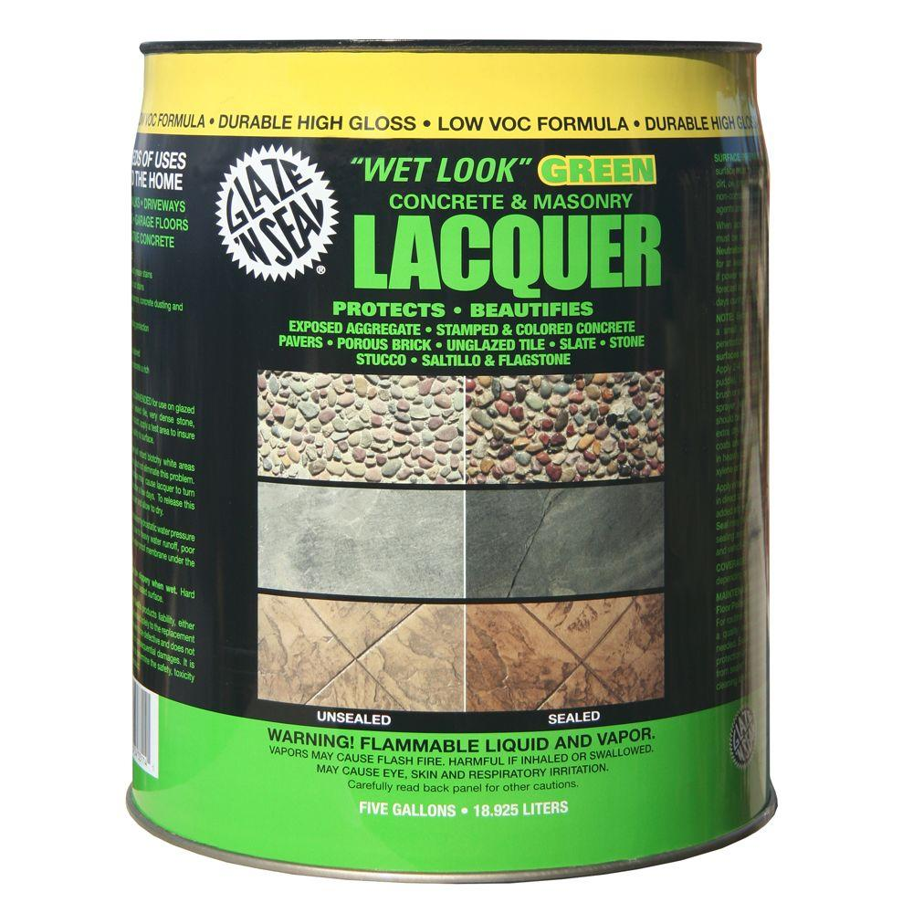 Clear Wet Look Green Concrete And Masonry Lacquer Sealer