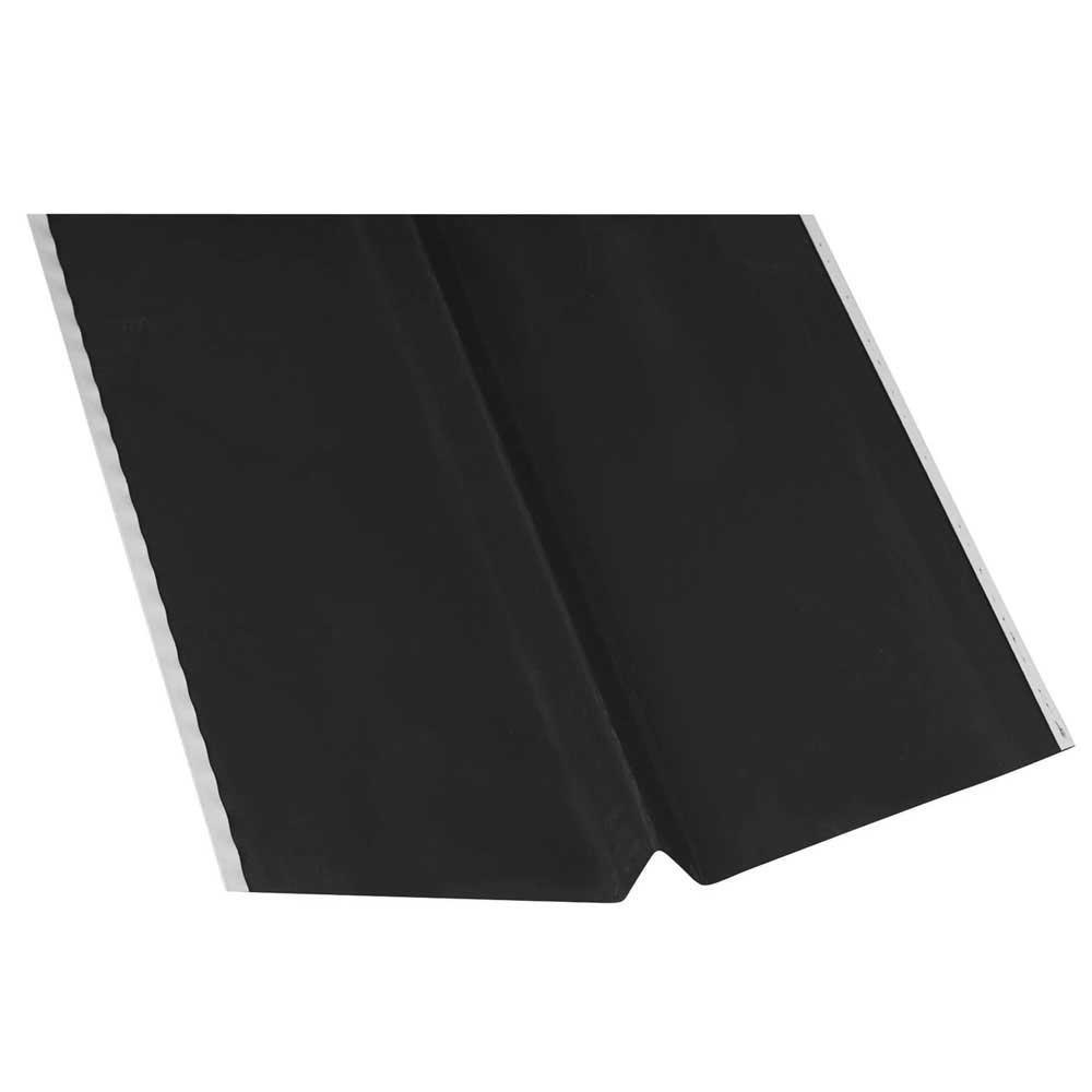 24 in. x 10 ft. Galvanized Steel W-Valley Flashing in Black