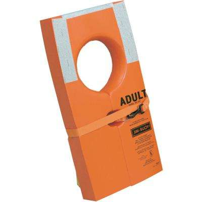 Type I USCG Approved Life Preserver with Reflective Tape, Orange