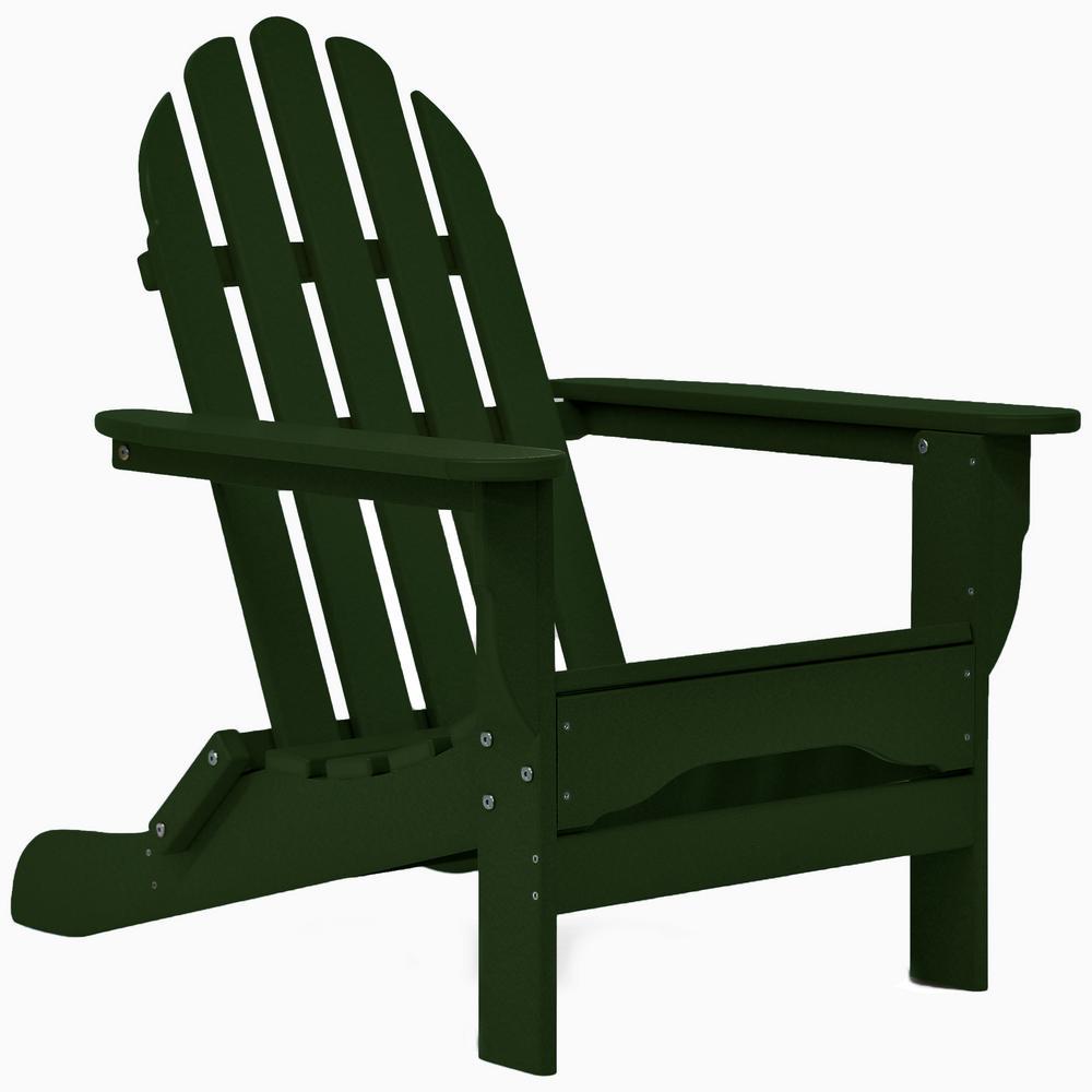 Icon Forest Green Non-Folding Plastic Adirondack Chair
