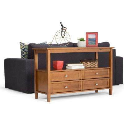 Warm Shaker Honey Brown Storage Console Table