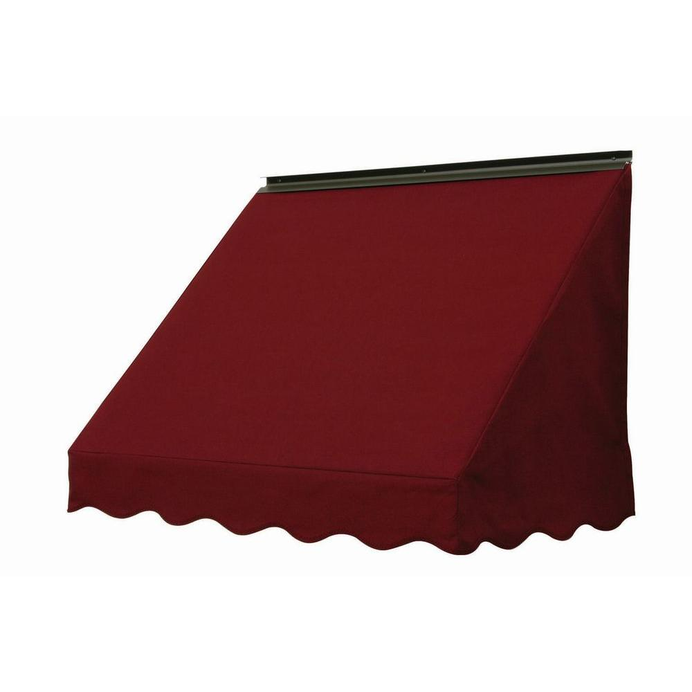 NuImage Awnings 6 ft. 3700 Series Fabric Window Awning (23 in. H x 18 in. D) in Burgundy
