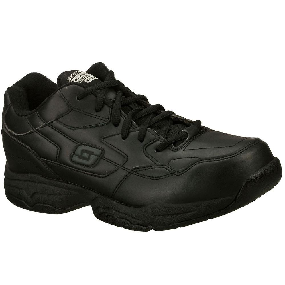 Skechers Felton Altair Men Size 9 5 Black Synthetic Work Shoe
