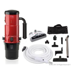 Click here to buy Prolux CV12000 Red Central Vacuum Power Unit with Electric Hose and Power Nozzle Kit by Prolux.