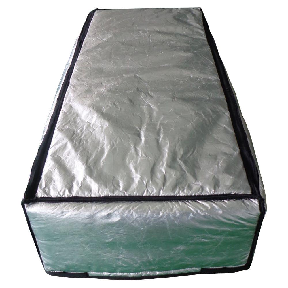 ThermoClimb 25 in. x 59 in. Attic Stair Cover in Double Reflective Insulation with Adjustable Straps and Zipper Opening