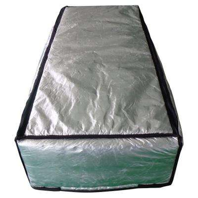 25 in. x 59 ft. Attic Stair Cover in Double Reflective Insulation with Adjustable Straps and Zipper Opening