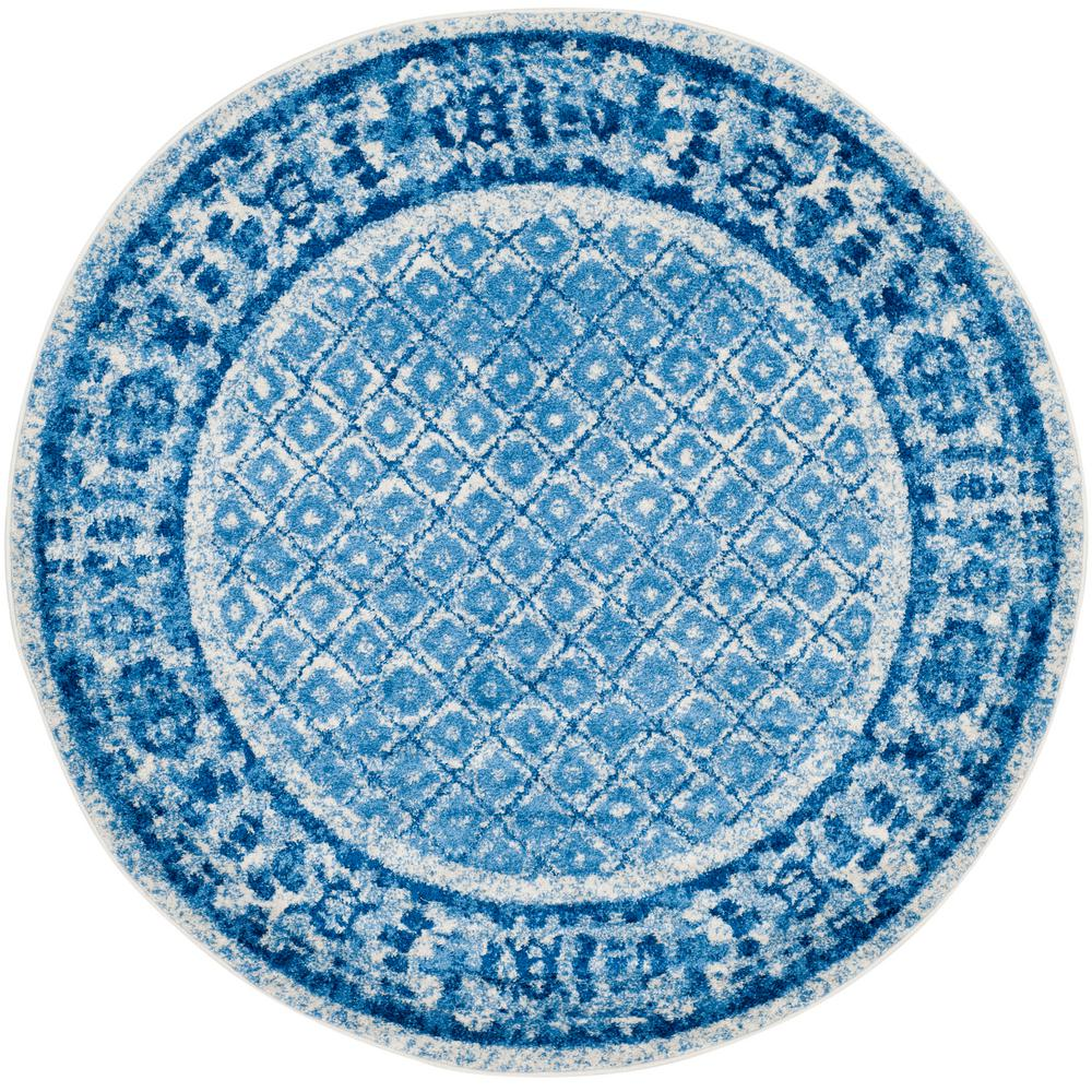 Safavieh Adirondack Silver/Blue 4 Ft. X 4 Ft. Round Area Rug