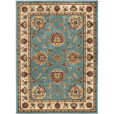 blue rectangular designs blue area rugs rugs the home depot