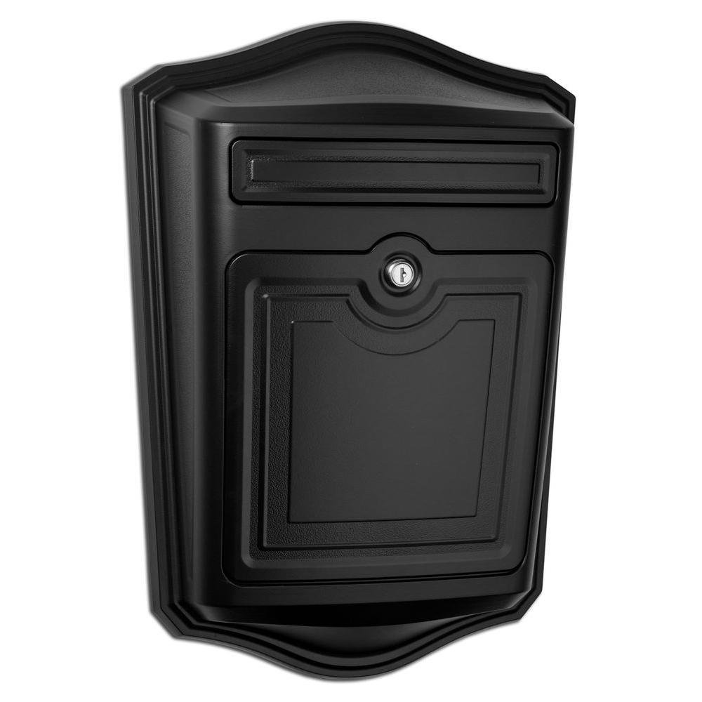 Maison Black Wall-Mount Locking Mailbox